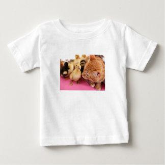 T-shirt Pour Bébé Chats et oiseaux