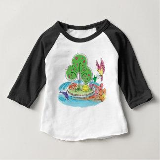 T-shirt Pour Bébé Chemise américaine d'habillement d'île
