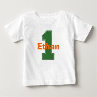 T-shirt Pour Bébé Chemise d'anniversaire de point de Faux première