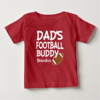 T-shirt Pour Bébé Chemise de bébé d'ami du football du papa nommé