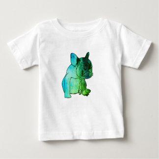 T-shirt Pour Bébé Chemise de bébé d'art d'aquarelle de chiot de