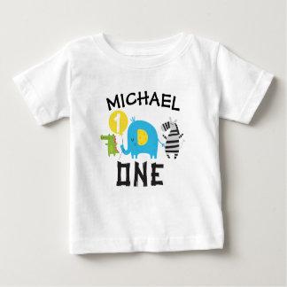 T-shirt Pour Bébé Chemise de fête d'anniversaire d'animaux de safari