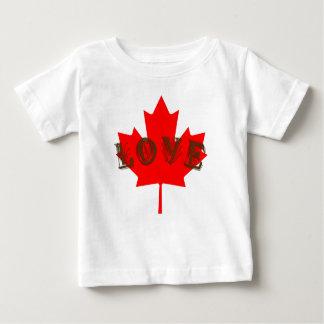 T-shirt Pour Bébé Chemise de feuille d'érable rouge de jour du