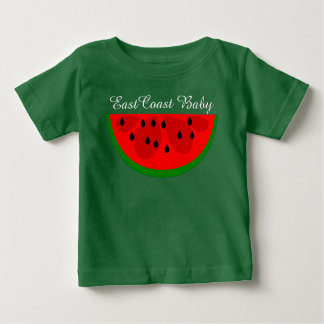 T-shirt Pour Bébé Chemise de fruit de pastèque de bébé de Côte Est