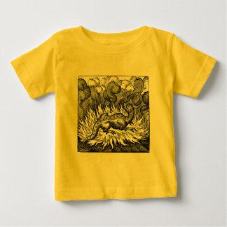 T-shirt Pour Bébé Chemise de nourrisson de salamandre de feu