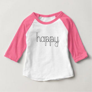 T-shirt Pour Bébé Chemise heureuse de bébé