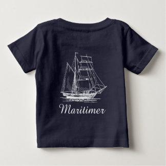 T-shirt Pour Bébé Chemise nautique de bateau de bateau de navigation