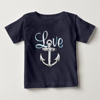 T-shirt Pour Bébé Chemise nautique mignonne de cottage de plage