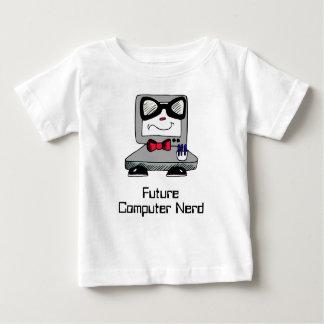 T-shirt Pour Bébé Chemise nerd de geek de futur ordinateur pour des