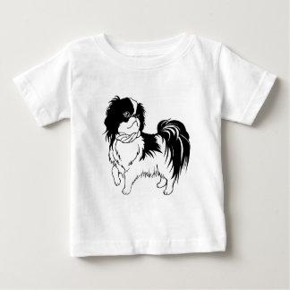 T-shirt Pour Bébé Chemise noire et blanche adorable de bébé de chien