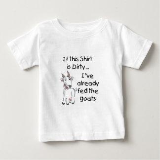 T-shirt Pour Bébé Chemise sale de chèvre drôle
