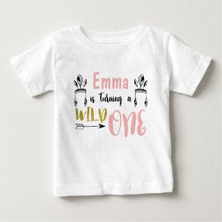 T-shirt Pour Bébé Chemise sauvage d'anniversaire de filles une ?ère
