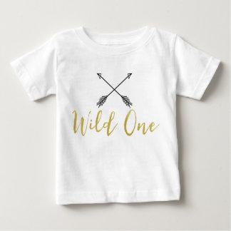 T-shirt Pour Bébé Chemise sauvage de feuille d'or de Faux des