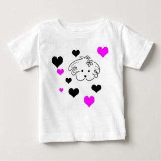 T-shirt Pour Bébé Chemisette infantile couleur blanche du monde de