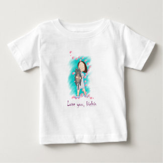T-shirt Pour Bébé Chemisette Love you, Bichín