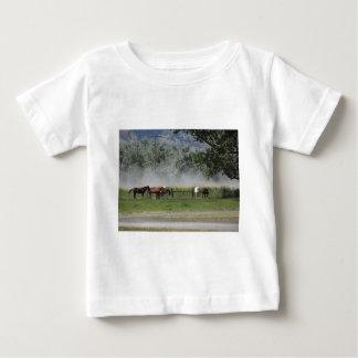 T-shirt Pour Bébé Chevaux heureux