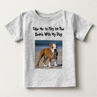 T-shirt Pour Bébé Chien Editable sur la plage