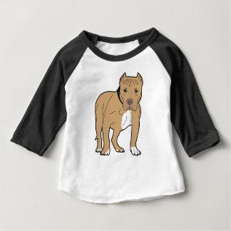 T-shirt Pour Bébé Chien personnalisé de Pitbull d'Américain