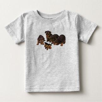 T-shirt Pour Bébé Chiens de chiots drôles de Yorkshire Terrier, la