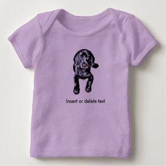 T-shirt Pour Bébé Chiot de laboratoire de noir de chemise de