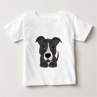 T-shirt Pour Bébé Chiot gris mignon de Pitbull