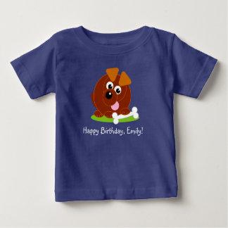 T-shirt Pour Bébé Chiot mignon de brun de style de bande dessinée