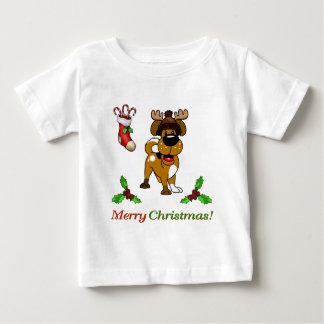 T-shirt Pour Bébé Chiots de Noël