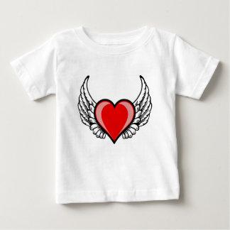 T-shirt Pour Bébé coeur avec des ailes