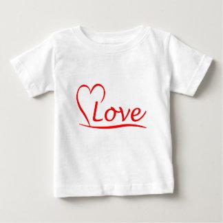 T-shirt Pour Bébé Coeur avec des amours