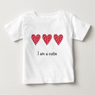 T-shirt Pour Bébé Coeurs de point de polka