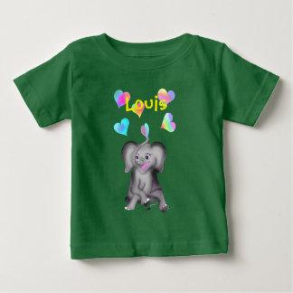 T-shirt Pour Bébé Coeurs d'éléphant par Happy Juul Company