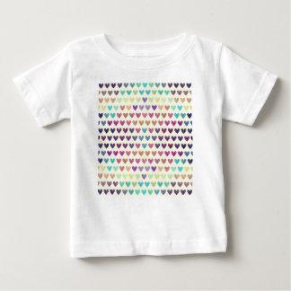 T-shirt Pour Bébé Coeurs mignons colorés IV