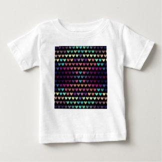 T-shirt Pour Bébé Coeurs mignons colorés V