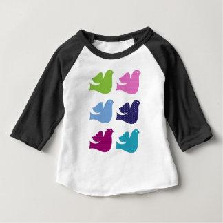 T-shirt Pour Bébé Colombes de cru de concepteurs