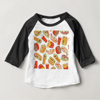 T-shirt Pour Bébé Colorful Pattern illustration restauration rapide