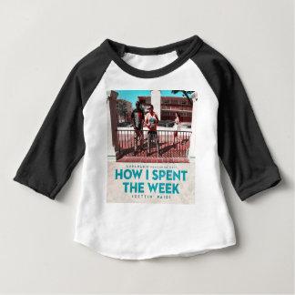 T-shirt Pour Bébé Comment j'ai dépensé la couverture de semaine