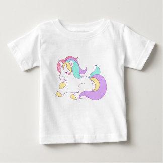 T-shirt Pour Bébé Conception de bande dessinée de cheval de poney de