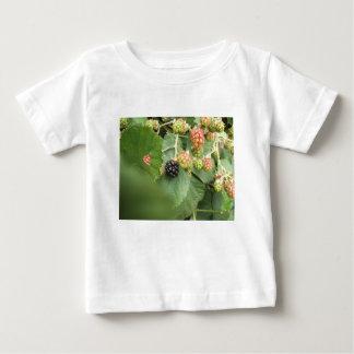 T-shirt Pour Bébé Conception noire de baie