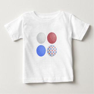 T-shirt Pour Bébé CONCEPTION PATRIOTIQUE de BOULE de GOLF, le 4