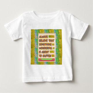 T-shirt Pour Bébé CONSIDÉREZ EN perspectives heureuses merveilleuses