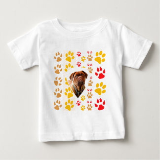 T-shirt Pour Bébé Copie de pattes de coeur de Dogue de Bordeaux Dog