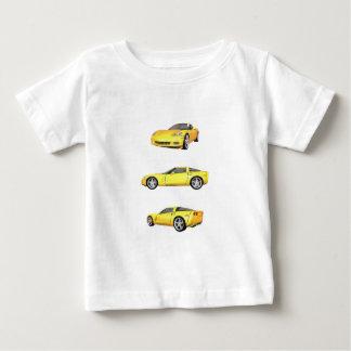 T-shirt Pour Bébé Corvette jaune :
