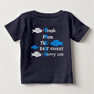 T-shirt Pour Bébé Côte atlantique fraîche de la vie heureuse de Côte