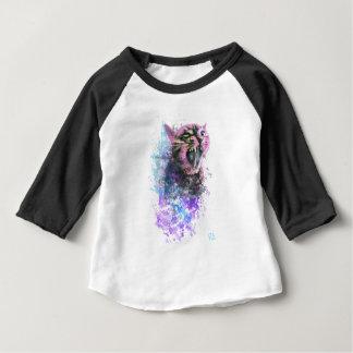 T-shirt Pour Bébé Couleur d'eau de chat d'hurlement