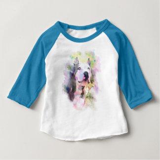 T-shirt Pour Bébé Couleur d'eau de pitbull