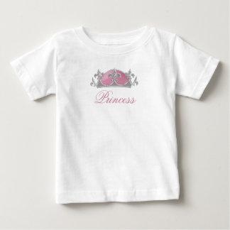 T-shirt Pour Bébé Couronne rose et argentée de Faux avec des