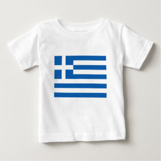 T-shirt Pour Bébé Coût bas ! Drapeau de la Grèce