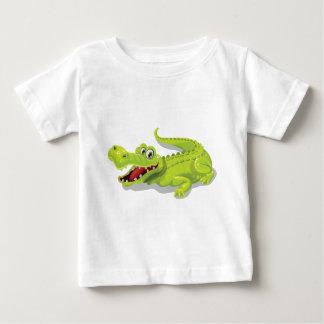 T-shirt Pour Bébé Crocodile de bande dessinée