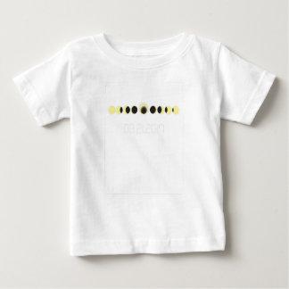 T-shirt Pour Bébé Cycle total d'éclipse solaire