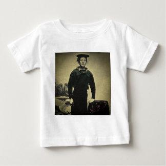 T-shirt Pour Bébé Daguerréotype vintage de marin de guerre civile